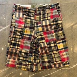 $ drop, Old Navy boy's plaid patch shorts